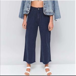 BDG High Rise Wide Leg Red Stripe Ankle Pants